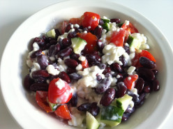 Beans and vegetables salad