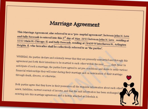 Enter matrimony with caution. It's a contract that can last a lifetime.