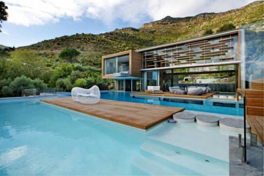Luxury Spa House and Swimming Pool in Cape Town, South Africa by Metropolis Design