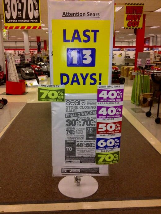 Sears- Last 13 Days