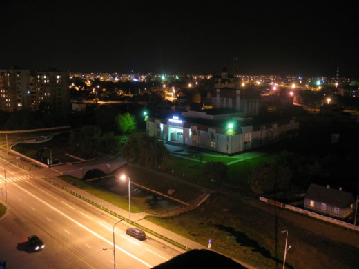 Ivatsevichi, Belarus at night