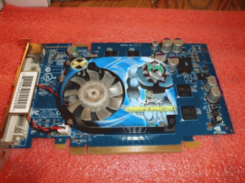 Video Card with Failed Stock Fan