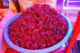 A Sample of Dried Hibiscus Flower Petals