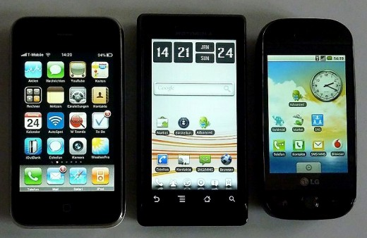 http://commons.wikimedia.org/wiki/File%3AGroup_of_smartphones.jpg