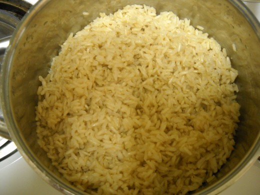 Finished brown rice
