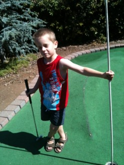 Enjoyed a round of mini-golf with grandson...who won by the way!