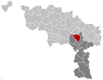 Map location, Binche municipality, Hainaut province