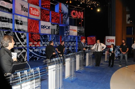 Setting the stage for a presidential debate