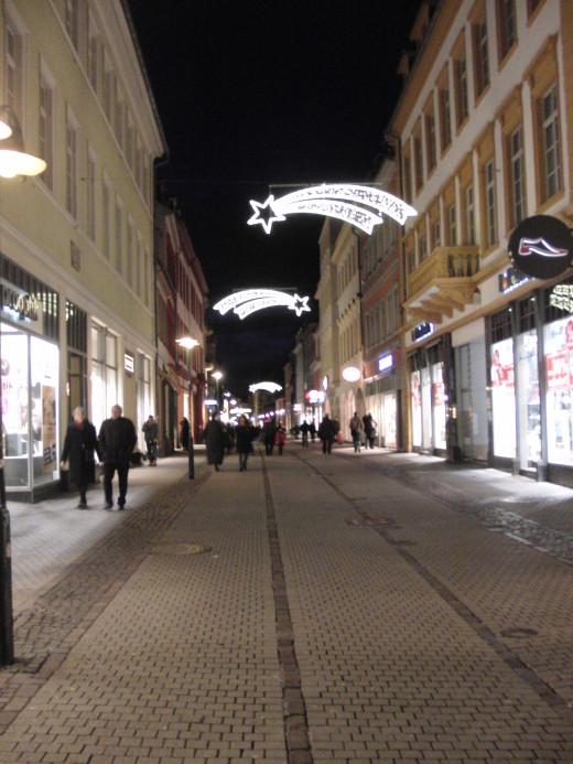 Hauptstrasse in Heidelberg