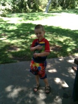 If we hadn't enjoyed an afternoon at the creek, my grandson would never have caught his first pollywog!