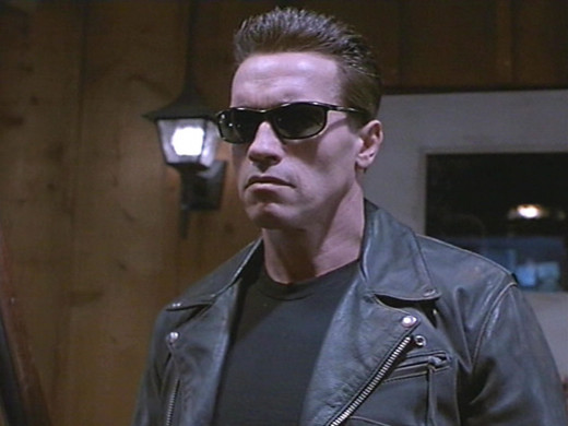 Arnold Schwarzenegger as the Terminator in Terminator 2: Judgement Day (1991)