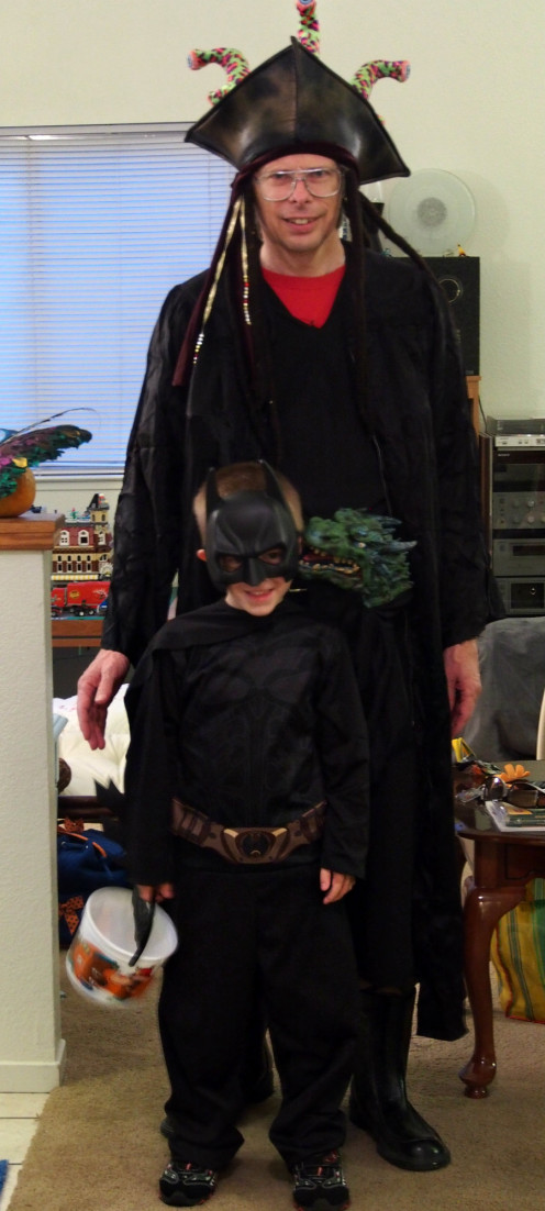 """Batman"" was the costume of choice for our grandson and ""whatever"" was Grandpa's - but they both had fun."