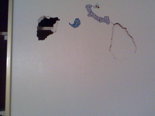 Closet door holes