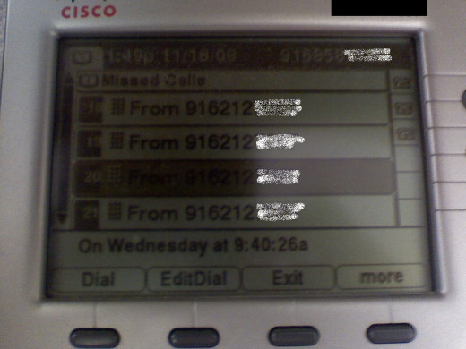 I had almost 100 calls during one day of work.