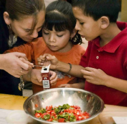 Teaching children about nutrition is very important
