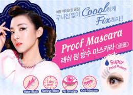 Etude House Lash Perm Super Waterproof Mascara Advertisement.