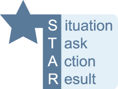 Remeber the STAR technique when answering questions