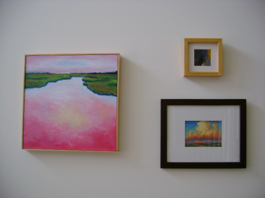 artwork hung in a balanced composition  (c) purl3agony 2013