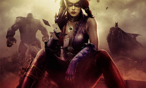 Harley Quinn (Solomon Grundy and Batman in the background)
