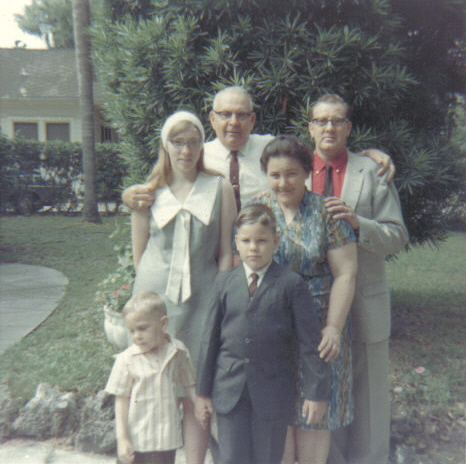 Visiting Grandma and Grandpa Sexton in Florida.