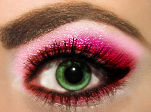Fun Eye Makeup Ideas: Party Pinks