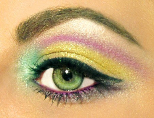 Pastel Rainbow Eyeshadow