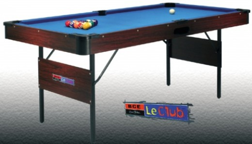 Folding pool table