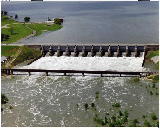 Lake Sam Rayburn Dam on the Angelina River