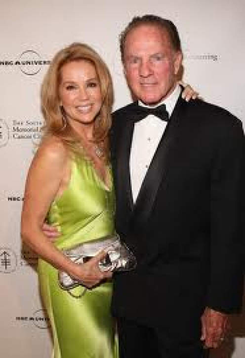 (from left) the lovely Kathie Lee Gifford, goddess- wife of Frank Gifford and Frank in tux.