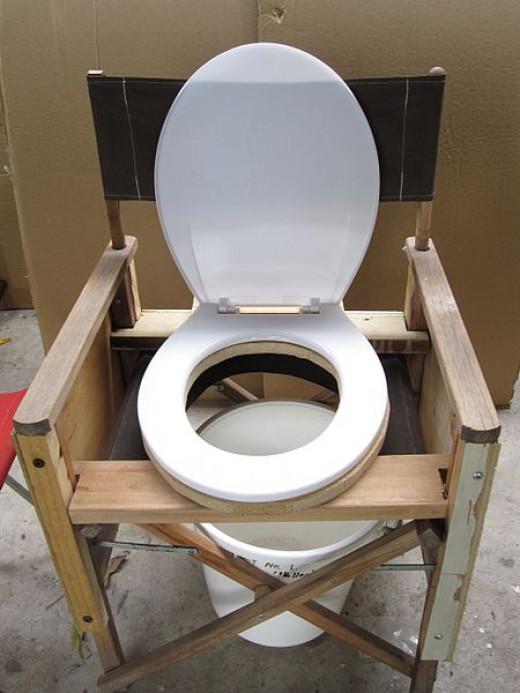 Image Homemade portable toilet