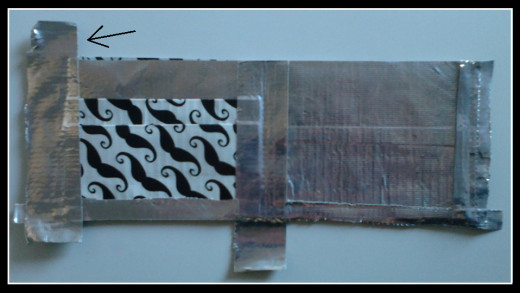 ...flip the top of the lip over the first part of the bill fold area...
