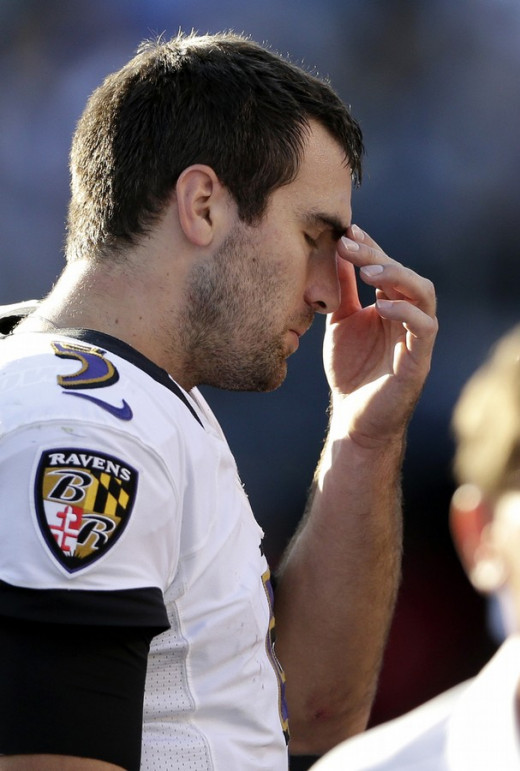 Joe Flacco has experienced the bitter disappointment of dropping the AFC Championship Game twice.  Can the Ravens finally clear the final hurdle this Sunday?
