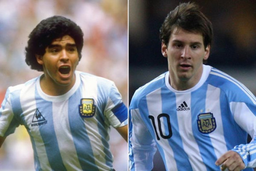 Diego Maradona and Lionel Messi - two legends from two different generations.