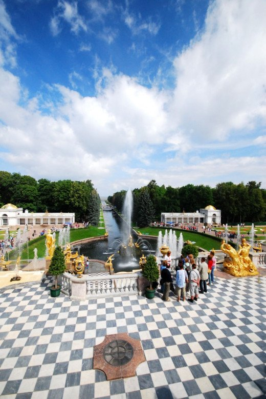Peterhof Palace is a short boat ride from Saint Petersburg, a must see in the summer months.