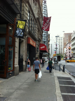 Chilling outside Strand Books in NYC!