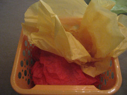 Add multi-colored tissue paper