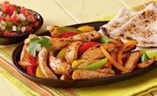 Fajita roll ups are great smothered in Nacho cheese sauce first. The peppers and onions are great with fajitas.