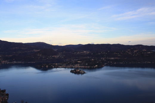 View from Madonna del Sasso (Piedmont) of Lake Orta, Italy
