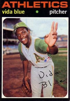 Vida Blue 1971 Topps baseball card.