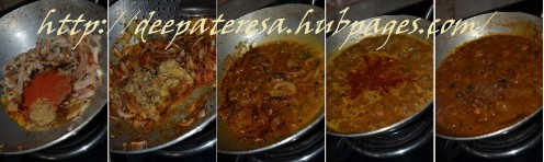 Preparing the kadala curry