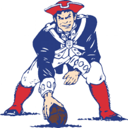 Pat Patriot, The Patriots logo from 1964 to 1992