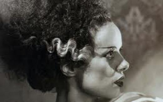 "Elsa Lanchester in ""The Bride of Frankenstein"""