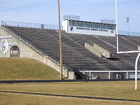 Bishop Stadium in Manhattan, Kansas.  I played in a much smaller stadium similar to this in the early 60s.