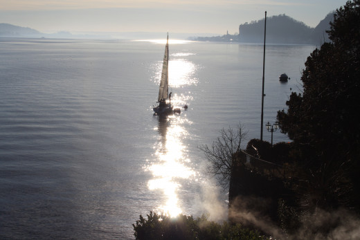 Romantic Sunrise - View from Meina, Lago Maggiore, Italy