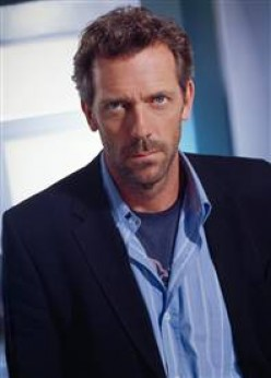 English actor Hugh Laurie is one of the few men who looks good with scruff.