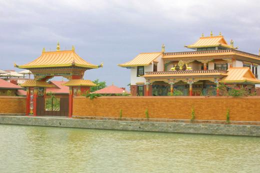 Zen Monastery in Lumbini, Nepal