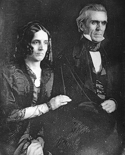 James K. Polk and wife