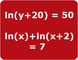 Solve logarithm equations with algebra.