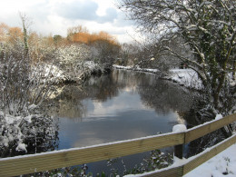 Les Rouvets Lake in the Snow