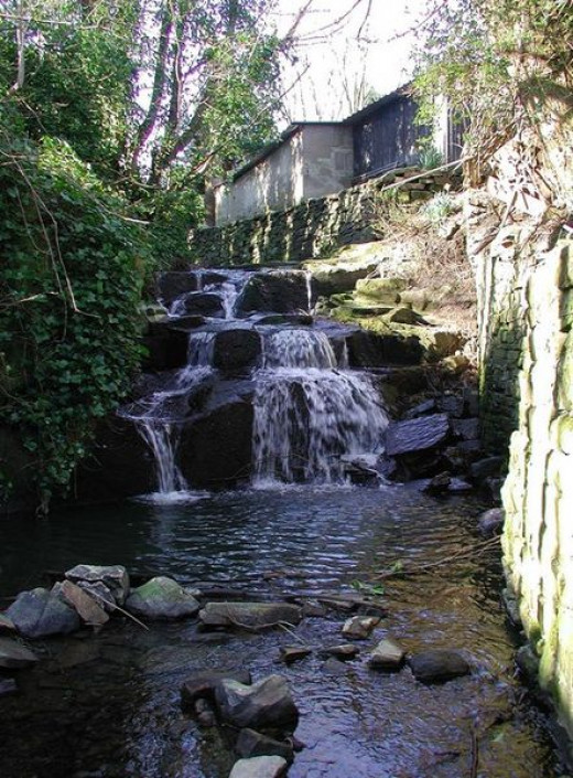 Cottingley Beck, where two British teenage girls claimed to have photographed fairies in 1917.
